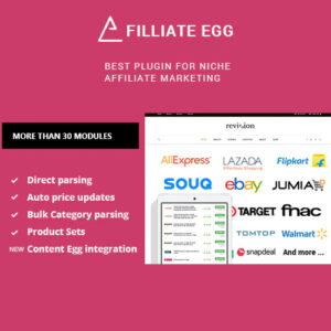Affiliate Egg ? Niche Affiliate Marketing WordPress Plugin