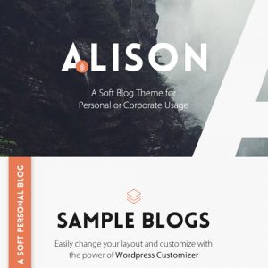 Anne Alison ? Soft Personal Blog Theme