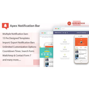 Apex Notification Bar ? Responsive Notification Bar Plugin for WordPress