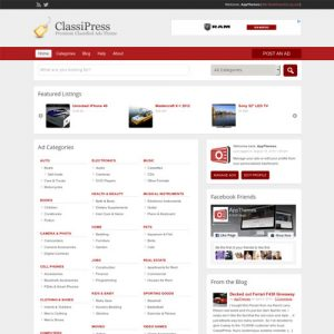 AppThemes ClassiPress ? WordPress Classified Ads Theme