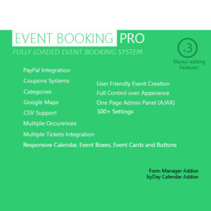 Event Booking Pro ? WP Plugin [paypal or offline]