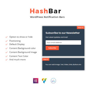 HashBar Pro ? WordPress Notification Bar