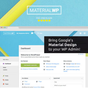 Material WP ? Material Design Dashboard Theme