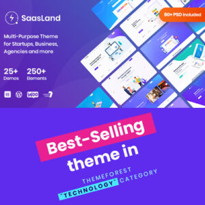 Saasland ? MultiPurpose WordPress Theme for Startup